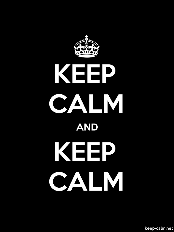 KEEP CALM AND KEEP CALM - white/black - Default (600x800)