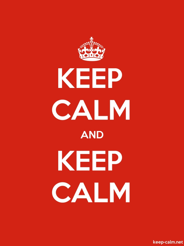 KEEP CALM AND KEEP CALM - white/red - Default (600x800)
