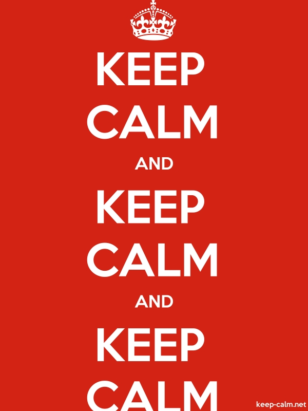 KEEP CALM AND KEEP CALM AND KEEP CALM - white/red - Default (600x800)