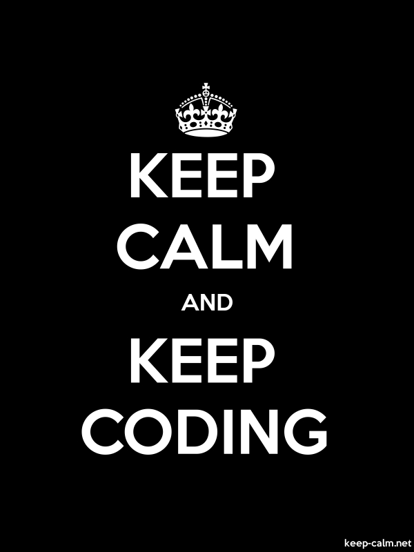 KEEP CALM AND KEEP CODING - white/black - Default (600x800)