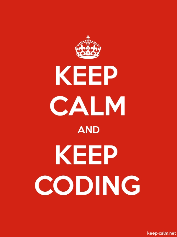 KEEP CALM AND KEEP CODING - white/red - Default (600x800)