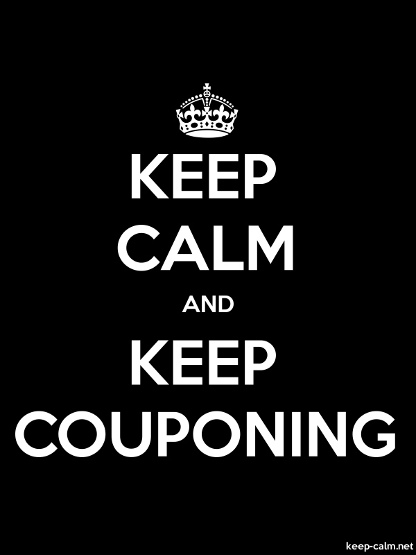 KEEP CALM AND KEEP COUPONING - white/black - Default (600x800)