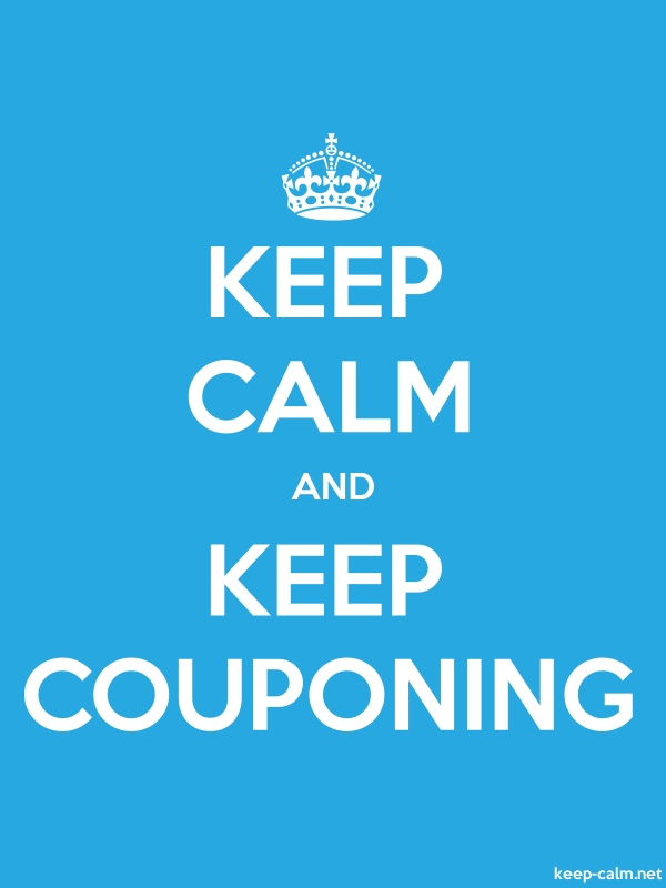 KEEP CALM AND KEEP COUPONING - white/blue - Default (600x800)