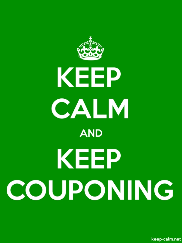 KEEP CALM AND KEEP COUPONING - white/green - Default (600x800)
