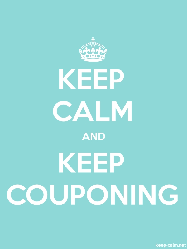 KEEP CALM AND KEEP COUPONING - white/lightblue - Default (600x800)