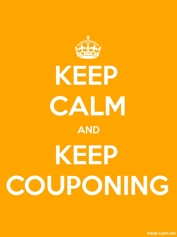 KEEP CALM AND KEEP COUPONING - white/orange - Default (600x800)