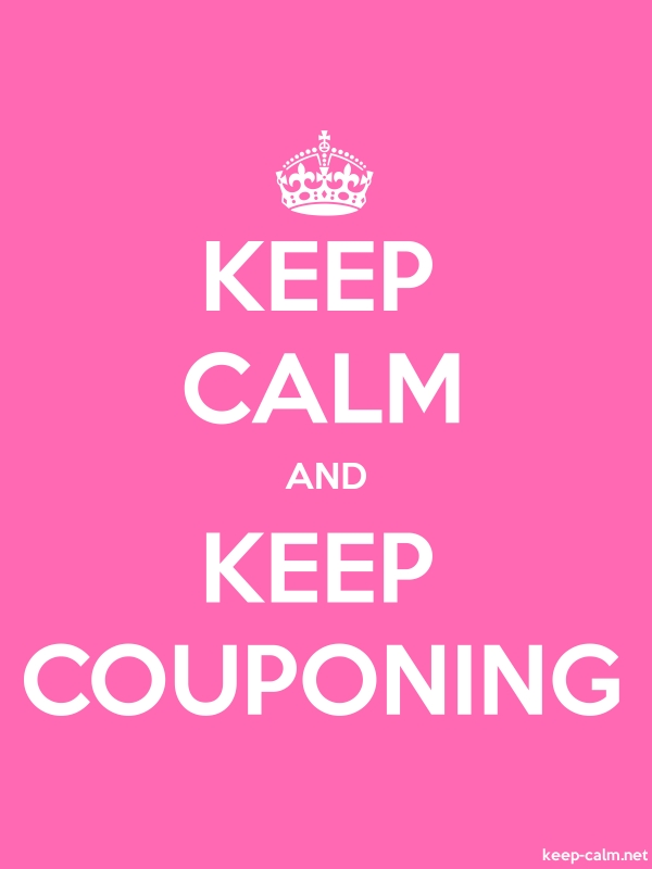 KEEP CALM AND KEEP COUPONING - white/pink - Default (600x800)