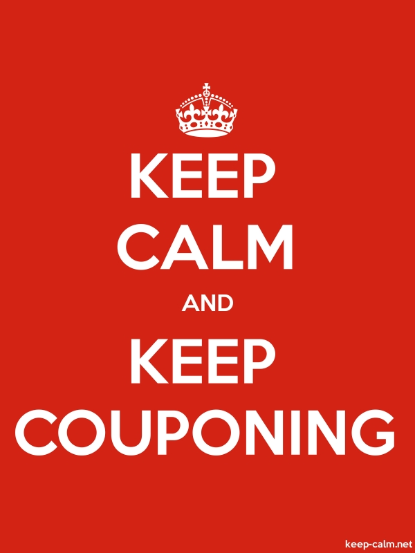 KEEP CALM AND KEEP COUPONING - white/red - Default (600x800)