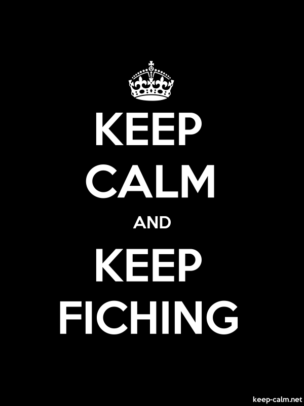 KEEP CALM AND KEEP FICHING - white/black - Default (600x800)