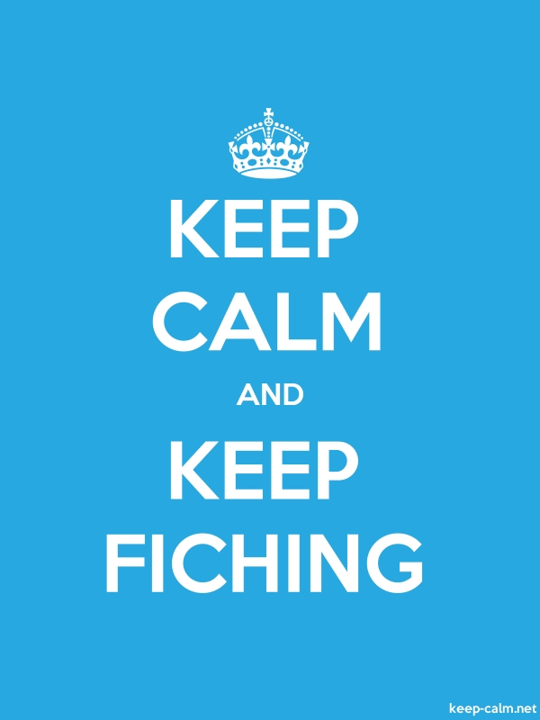 KEEP CALM AND KEEP FICHING - white/blue - Default (600x800)