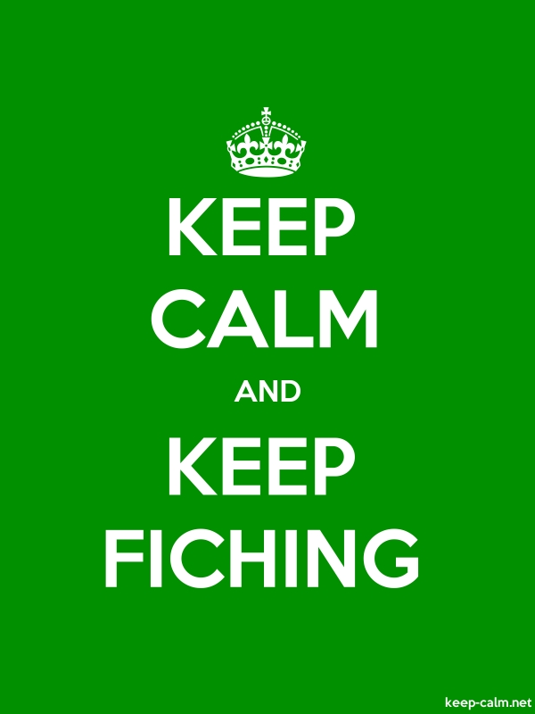 KEEP CALM AND KEEP FICHING - white/green - Default (600x800)