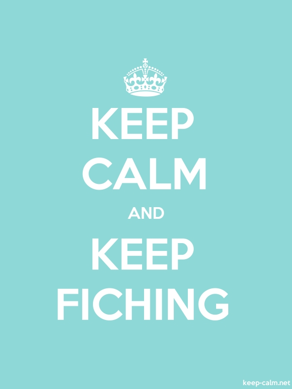 KEEP CALM AND KEEP FICHING - white/lightblue - Default (600x800)