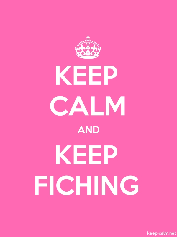 KEEP CALM AND KEEP FICHING - white/pink - Default (600x800)