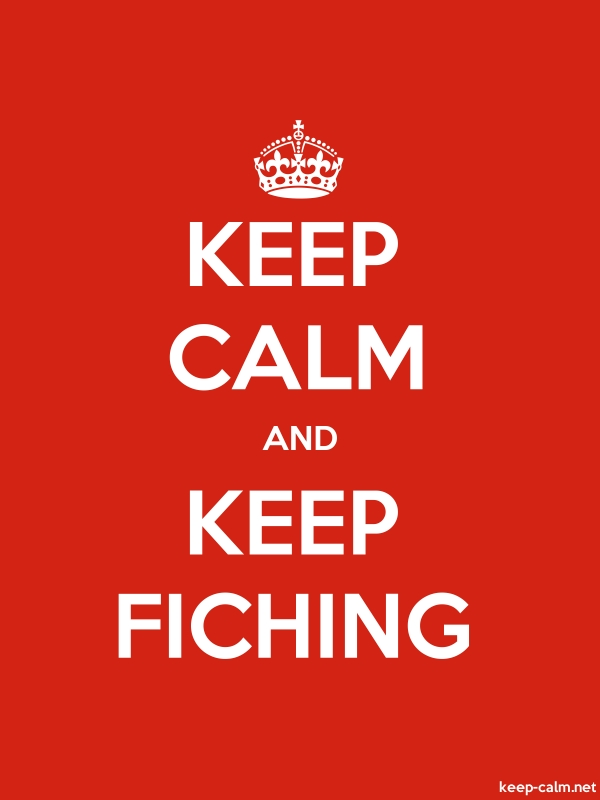 KEEP CALM AND KEEP FICHING - white/red - Default (600x800)