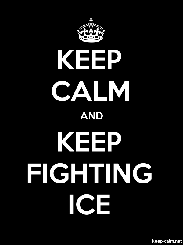 KEEP CALM AND KEEP FIGHTING ICE - white/black - Default (600x800)