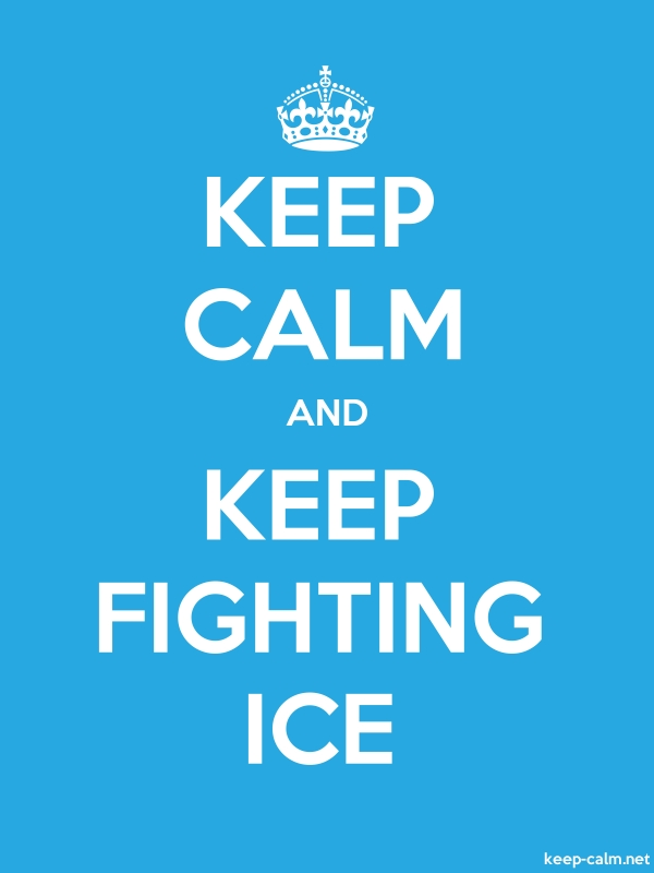 KEEP CALM AND KEEP FIGHTING ICE - white/blue - Default (600x800)