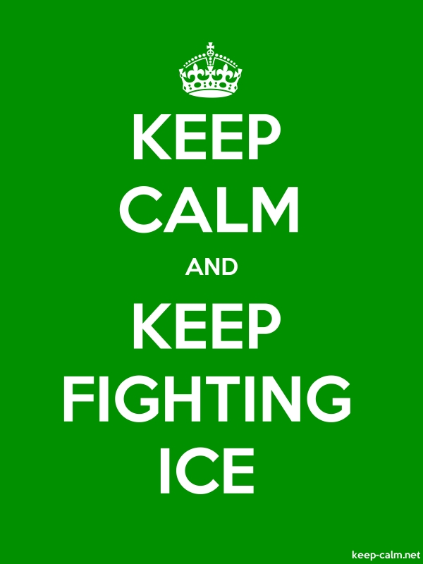 KEEP CALM AND KEEP FIGHTING ICE - white/green - Default (600x800)