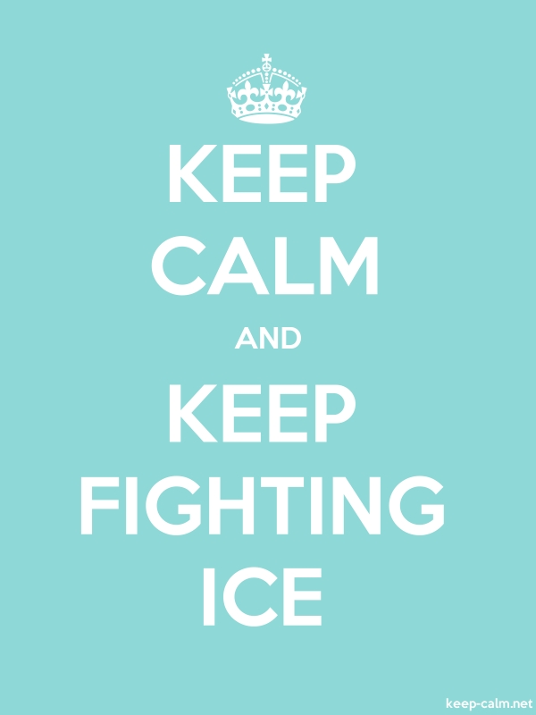 KEEP CALM AND KEEP FIGHTING ICE - white/lightblue - Default (600x800)