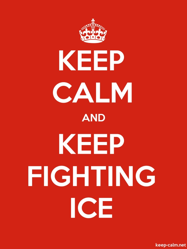KEEP CALM AND KEEP FIGHTING ICE - white/red - Default (600x800)