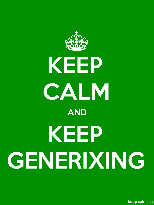 KEEP CALM AND KEEP GENERIXING - white/green - Default (600x800)