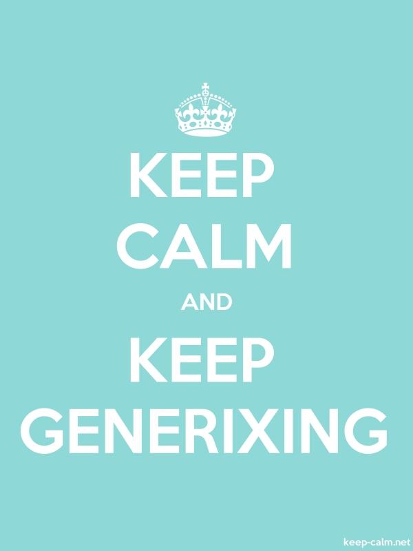KEEP CALM AND KEEP GENERIXING - white/lightblue - Default (600x800)