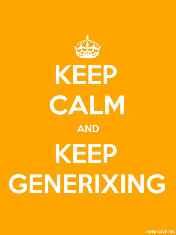 KEEP CALM AND KEEP GENERIXING - white/orange - Default (600x800)