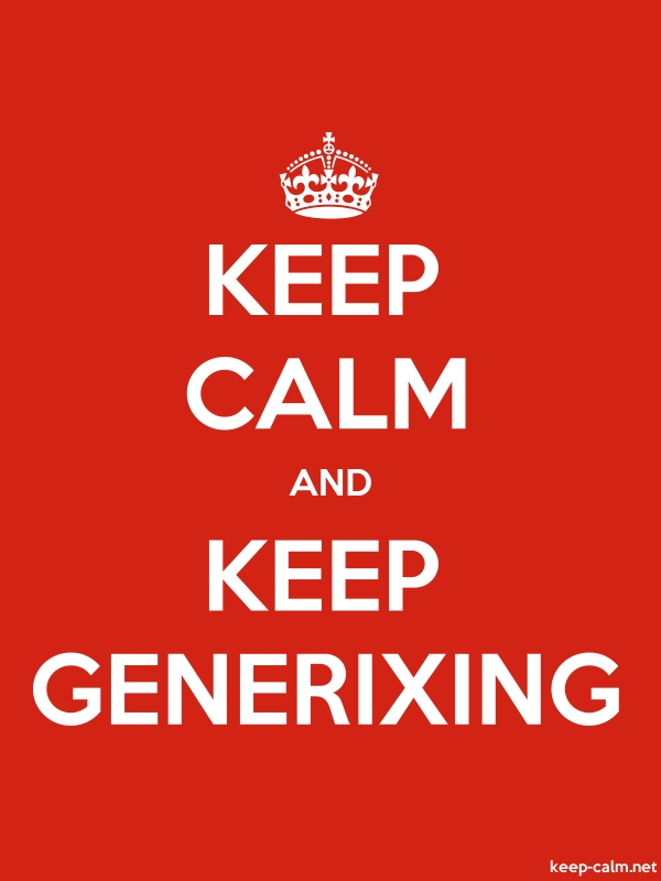 KEEP CALM AND KEEP GENERIXING - white/red - Default (600x800)