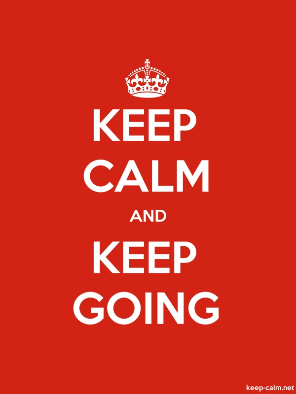 KEEP CALM AND KEEP GOING - white/red - Default (600x800)