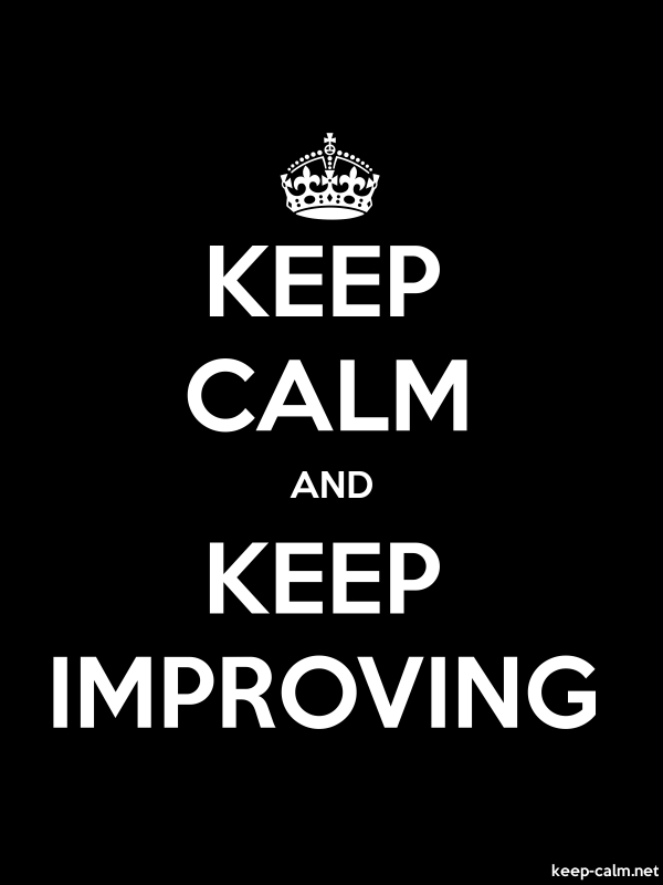 KEEP CALM AND KEEP IMPROVING - white/black - Default (600x800)