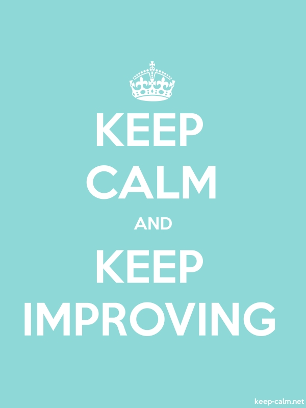 KEEP CALM AND KEEP IMPROVING - white/lightblue - Default (600x800)