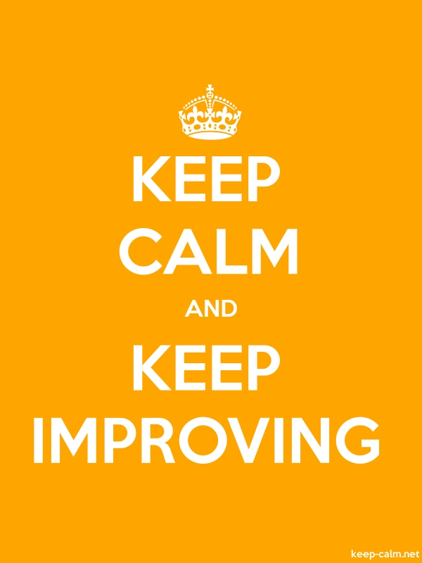 KEEP CALM AND KEEP IMPROVING - white/orange - Default (600x800)