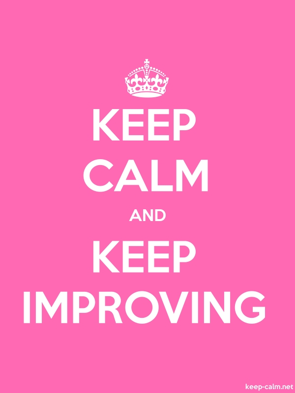 KEEP CALM AND KEEP IMPROVING - white/pink - Default (600x800)