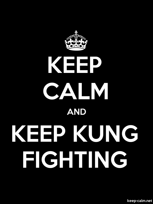 KEEP CALM AND KEEP KUNG FIGHTING - white/black - Default (600x800)