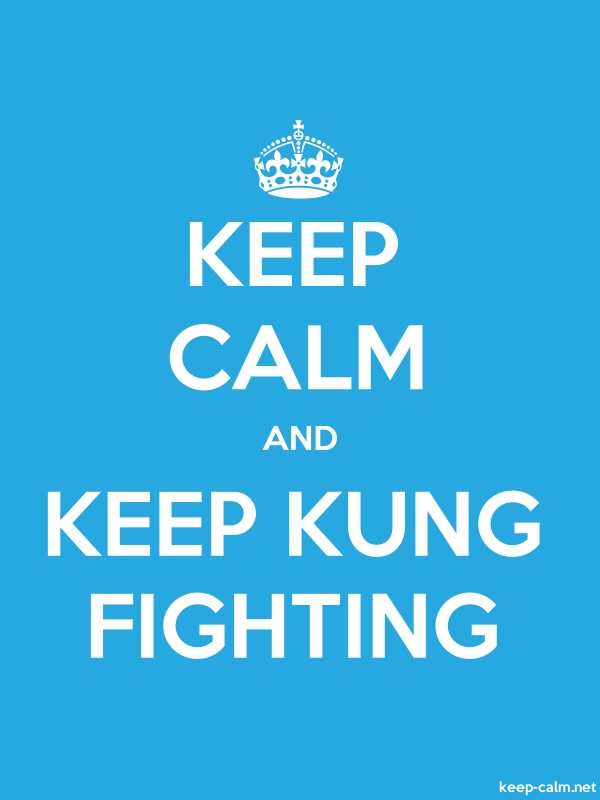 KEEP CALM AND KEEP KUNG FIGHTING - white/blue - Default (600x800)