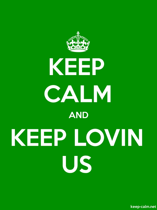 KEEP CALM AND KEEP LOVIN US - white/green - Default (600x800)