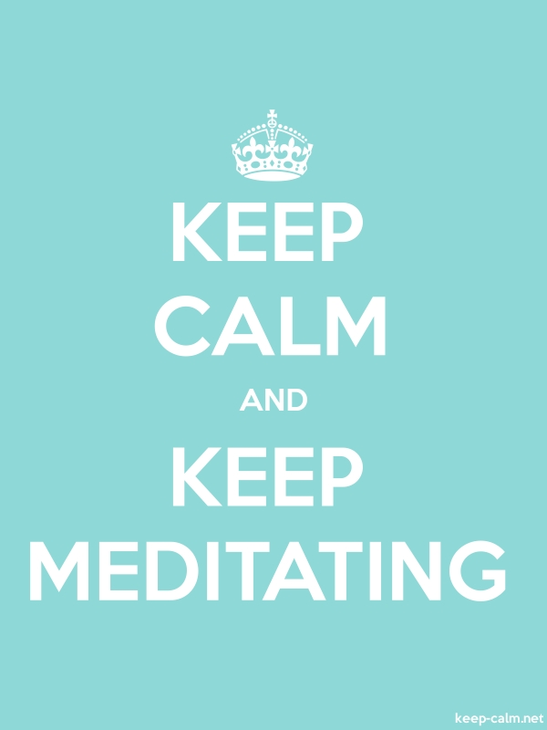 KEEP CALM AND KEEP MEDITATING - white/lightblue - Default (600x800)
