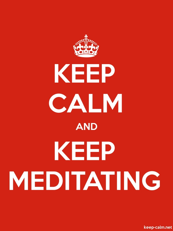 KEEP CALM AND KEEP MEDITATING - white/red - Default (600x800)