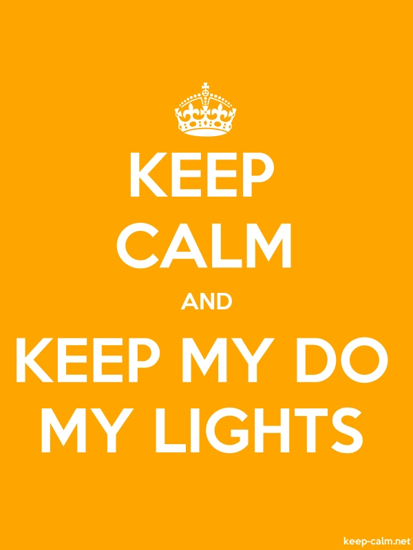 KEEP CALM AND KEEP MY DO MY LIGHTS - white/orange - Default (600x800)
