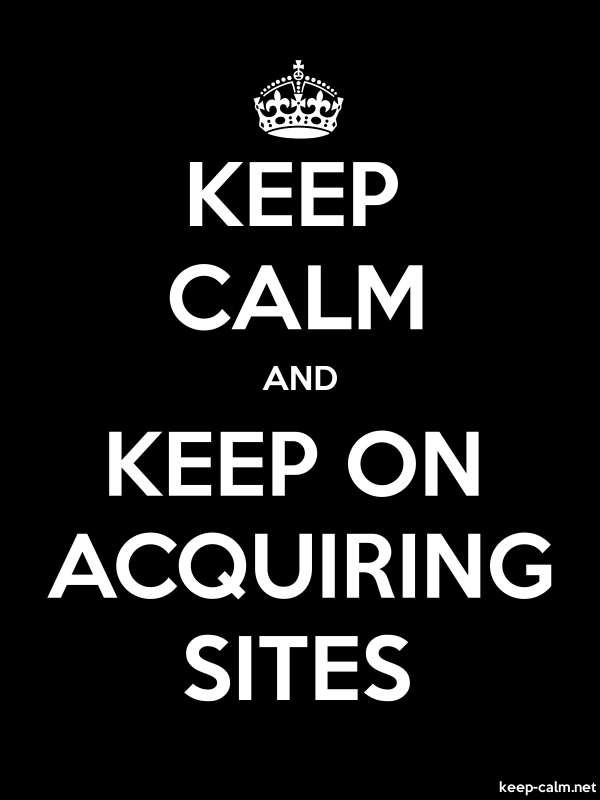 KEEP CALM AND KEEP ON ACQUIRING SITES - white/black - Default (600x800)