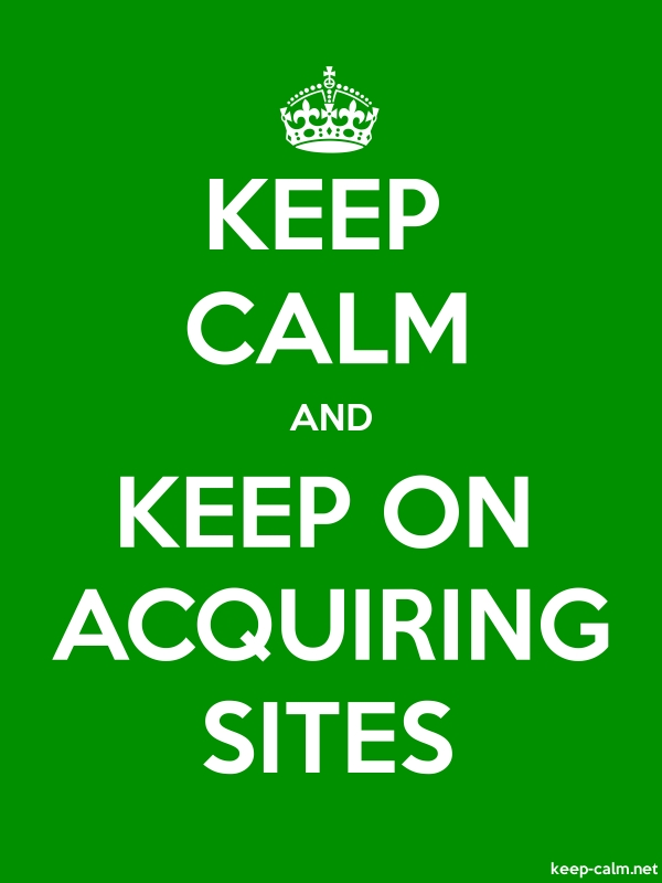 KEEP CALM AND KEEP ON ACQUIRING SITES - white/green - Default (600x800)