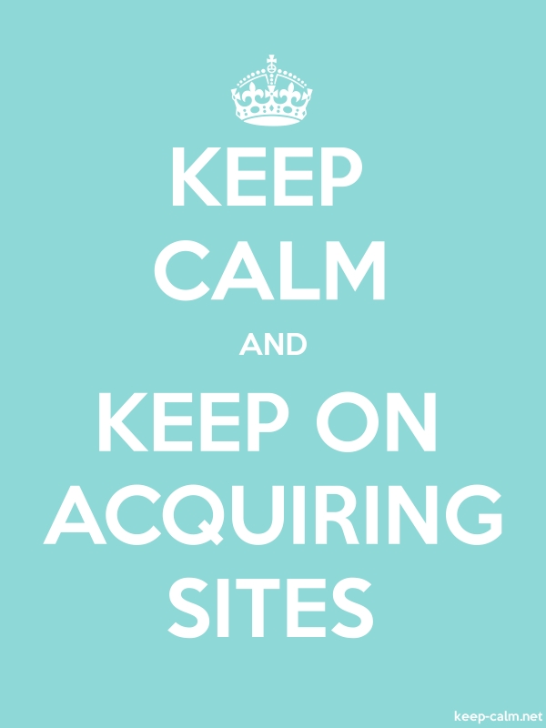 KEEP CALM AND KEEP ON ACQUIRING SITES - white/lightblue - Default (600x800)