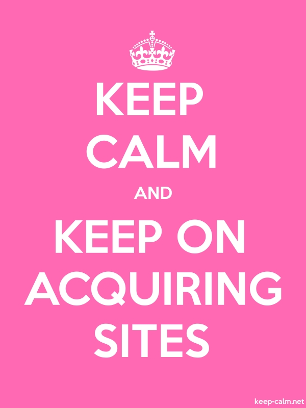 KEEP CALM AND KEEP ON ACQUIRING SITES - white/pink - Default (600x800)