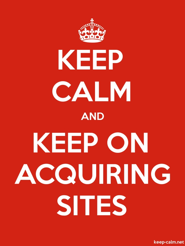 KEEP CALM AND KEEP ON ACQUIRING SITES - white/red - Default (600x800)