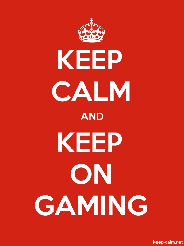 KEEP CALM AND KEEP ON GAMING - white/red - Default (600x800)