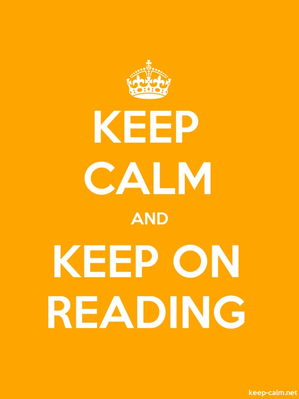 KEEP CALM AND KEEP ON READING - white/orange - Default (600x800)