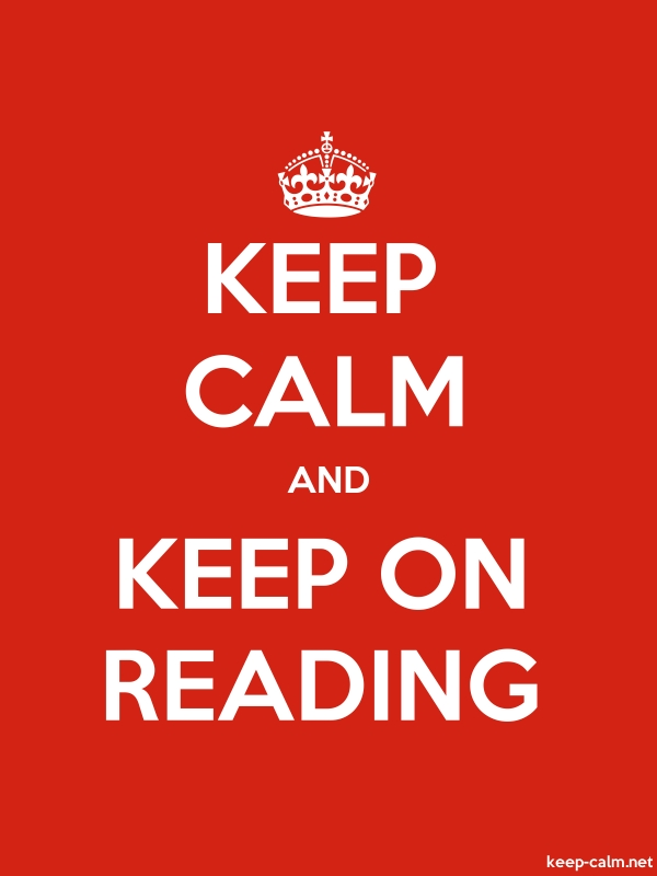 KEEP CALM AND KEEP ON READING - white/red - Default (600x800)