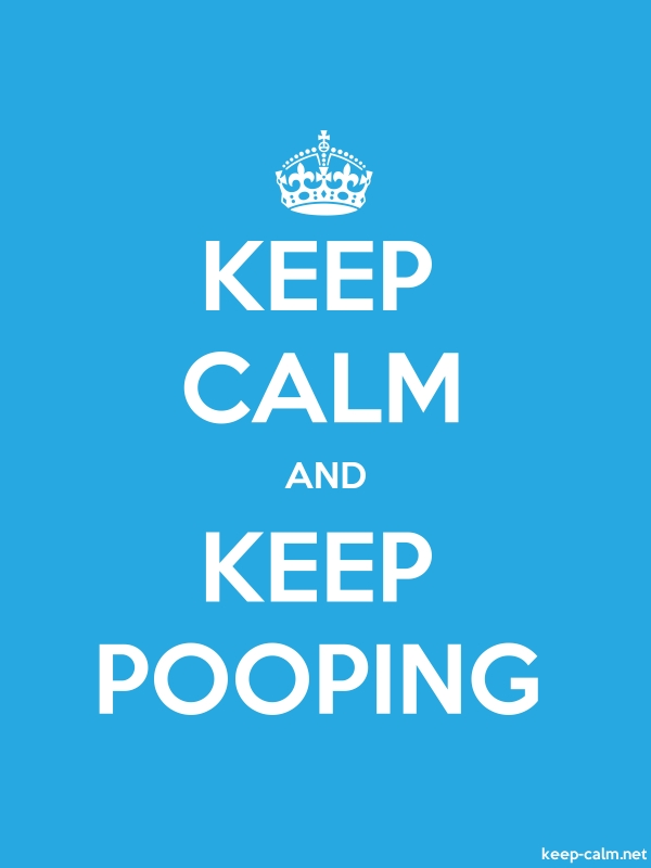 KEEP CALM AND KEEP POOPING - white/blue - Default (600x800)