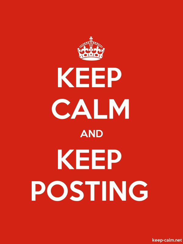 KEEP CALM AND KEEP POSTING - white/red - Default (600x800)