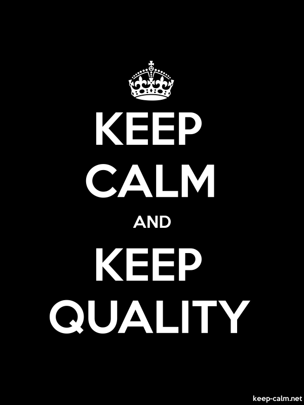 KEEP CALM AND KEEP QUALITY - white/black - Default (600x800)