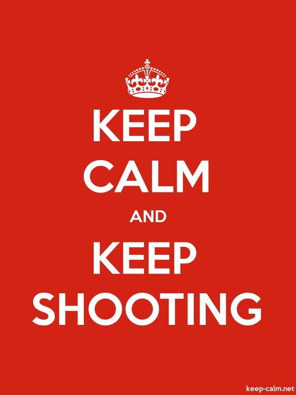 KEEP CALM AND KEEP SHOOTING - white/red - Default (600x800)